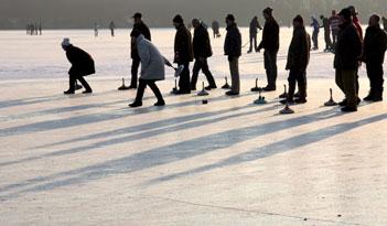Eisstockschießen in Erfurt